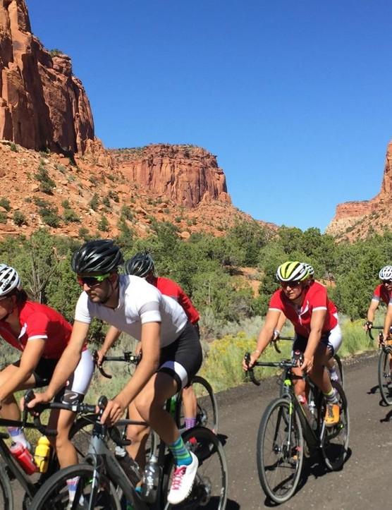 We rode through three US national parks in three days, on a mix of paved road, dirt roads and singletrack