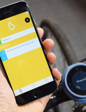 The Beeline works with an app that runs off your Apple or Android smartphone