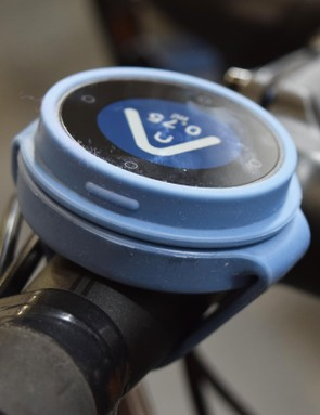 The device sits securely on the handlebars, and hasn't loosened or dislodged despite riding over some very uneven surfaces