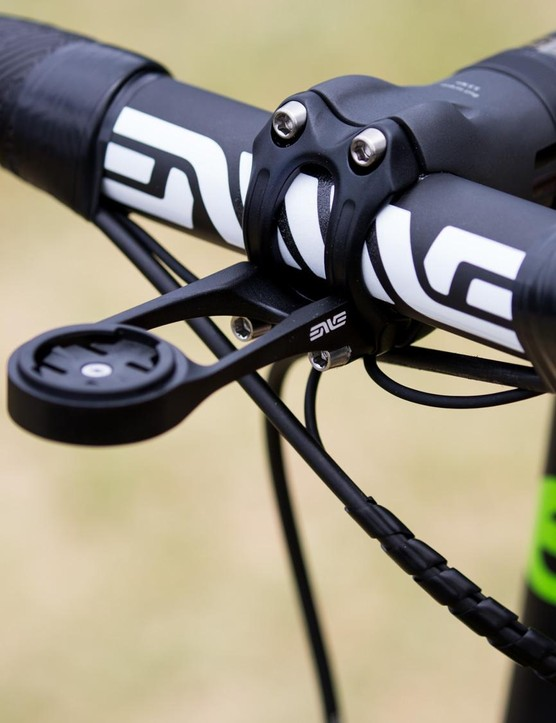 O'Connor is running ENVE bars and the brand's Computer Mount