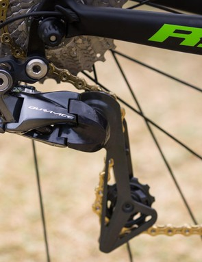 It's a surprise that as a Rotor sponsored team, Dimension Data isn't riding the Uno groupset
