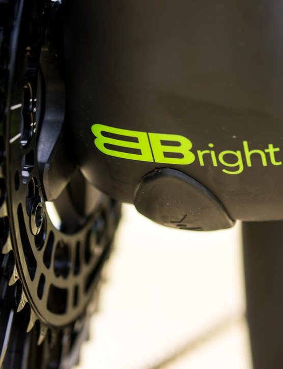 Cervelo stuck with the BB Bright bottom bracket standard with the R5