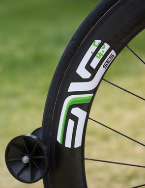 O'Connor has opted for ENVE SES 4.5 rolling stock....