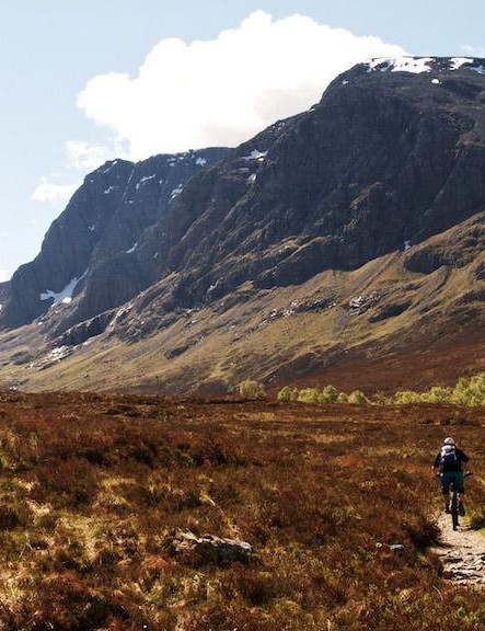 Ben Nevis is the highest mountain in the British Isles, and there are some great trails to be found around it