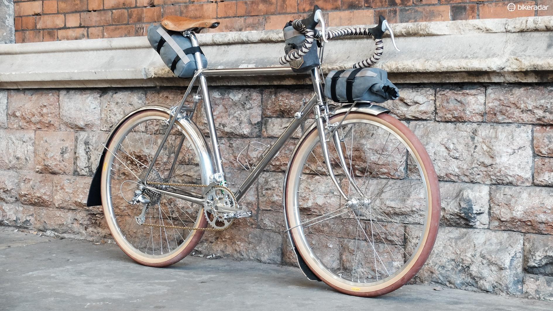This Rinko-compliant touring bike looks resplendent in Reynolds 953