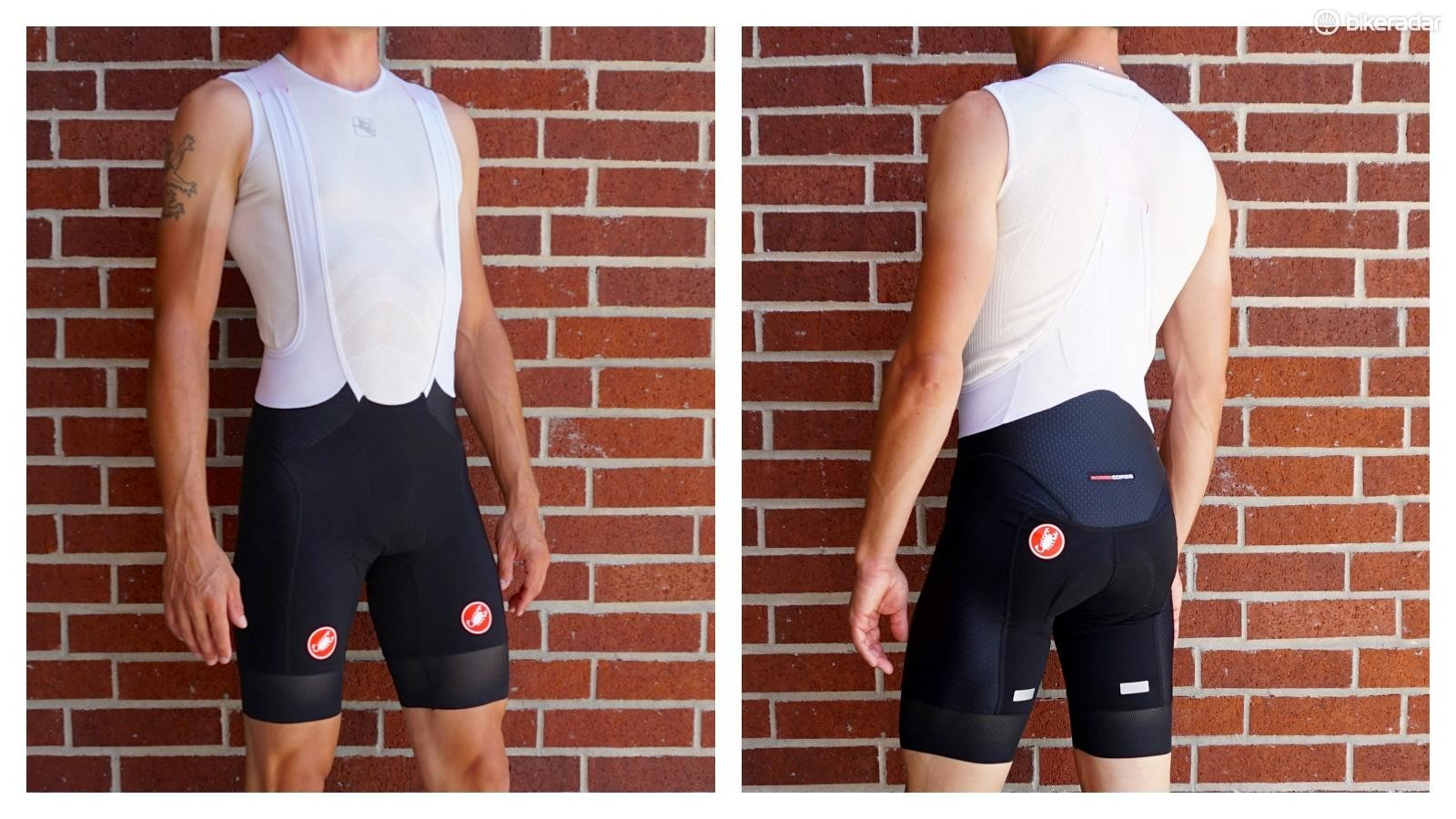 The Free Aero bib from Castelli was the only Italian brand to forgo a distinctive 'male factor' space in the front