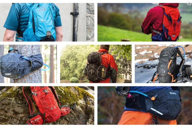 Hydration packs come in a variety of sizes to haul all sorts of water, food, and ride essentials