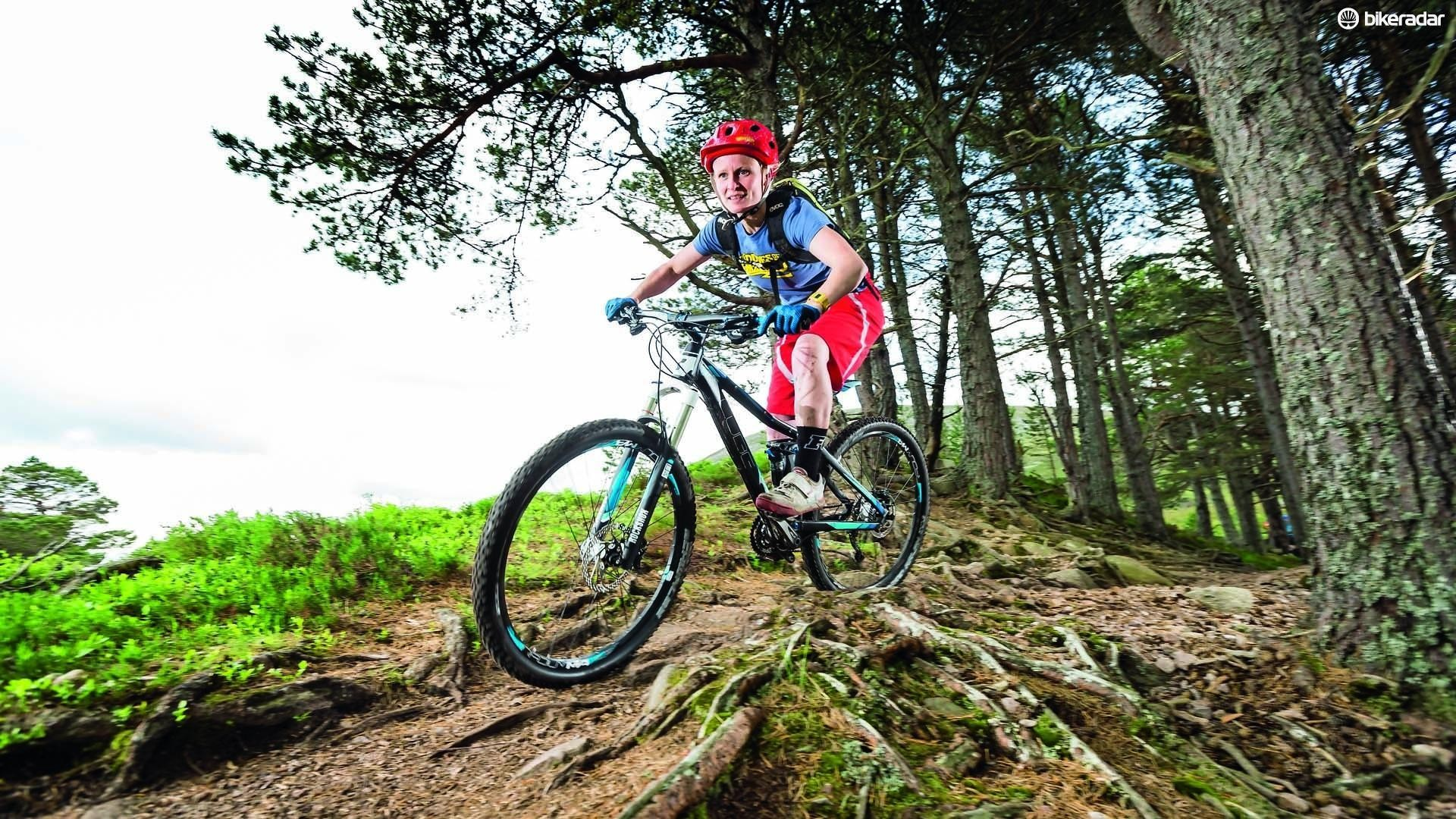 Mountain bikes are built to roll over truly bumpy terrain, but can be heavy and slow elsewhere