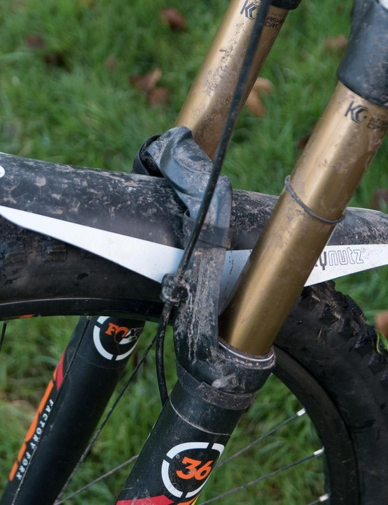 The Muckynutz Race Fender XL uses a flexible design but gives much greater coverage than most