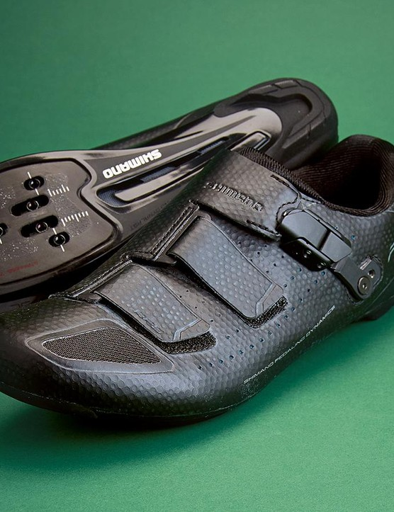 Shimano's RP5s borrow plenty of design touches from the Japanese giant's pro-level shoes