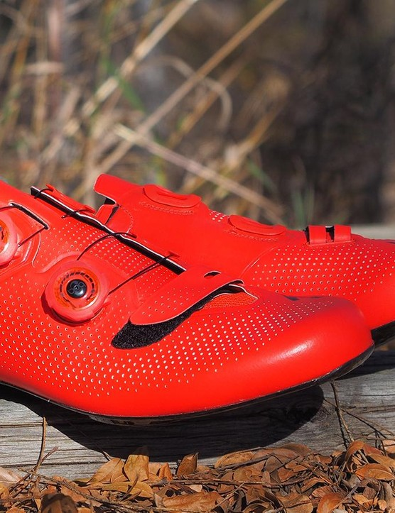 Specialized's S-Works 6 road shoes are incredibly light for a dual-Boa shoe but also remarkably supportive and comfortable