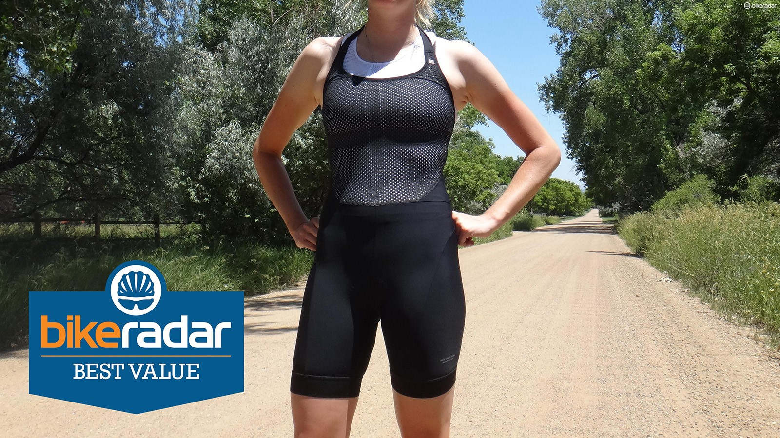 Giro's Halter Bibs include a soft built-in base layer for added comfort and support
