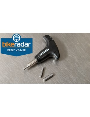Cheap to purchase, the LifeLine Hand-Torque Wrench wins BikeRadar's 'Best Value' award in the preset category. This same wrench is available under other brand names too, so shop around