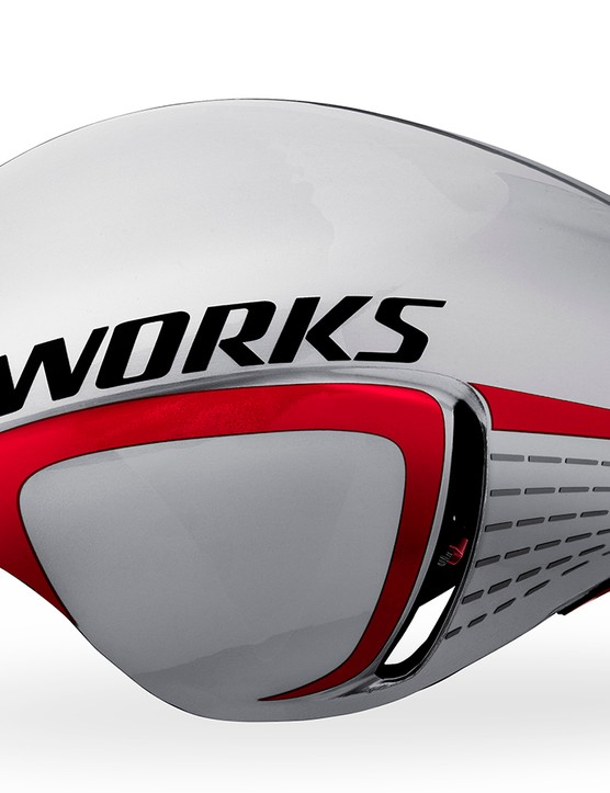 Based on the McLaren S-Works helmet, the revised S-Works TT receives side vents that Specialized calls 'gills'