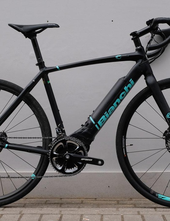 The Bianchi has a claimed range of 200km at 30 percent assistance