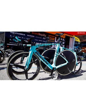 The Bianchi Aquilas are hand-painted in Italy