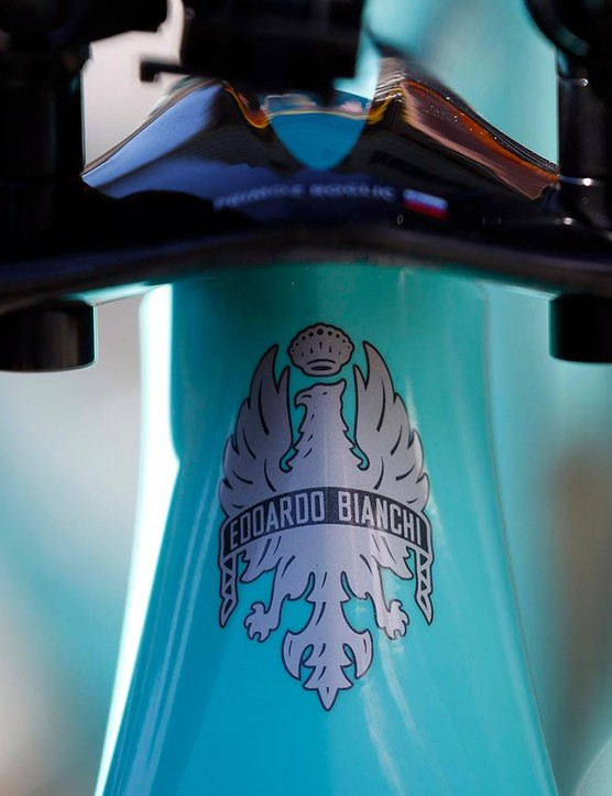 One of the most recognisable head tube badges in cycling
