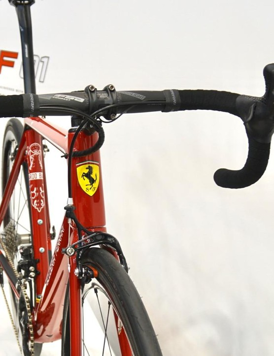 You may have seen Colnago bikes co-branded with Ferrari - this is the new Bianchi Scuderia Ferrari 01
