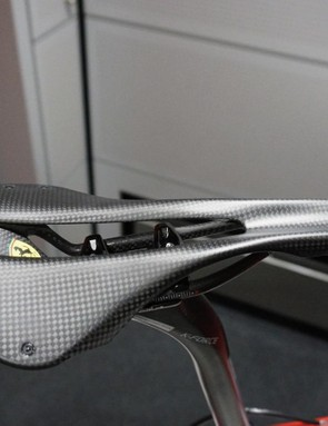 This Ferrari-branded Astute One saddle weighs a claimed 94g