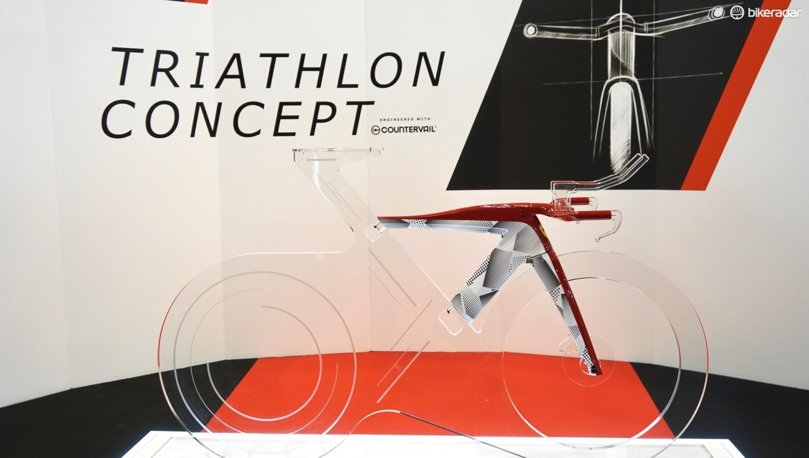 Bianchi and Ferarri are just beginning collaborative work on a triathlon bike