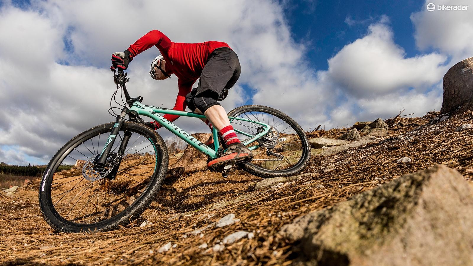 Bianchi is better known for its road bikes, but this celeste-green 29er is a decent XC option