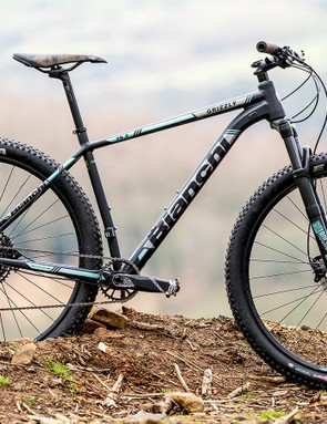 The 6000-series alloy frame is triple butted to put metal only where it's needed, not where it isn't