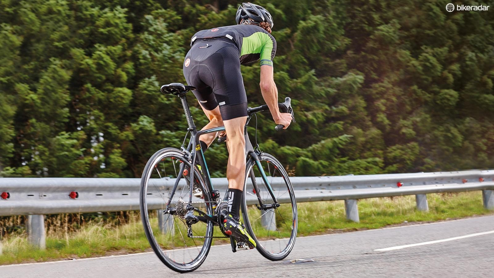 Ultegra's excellent brakes complement the always impeccable electronic shifting