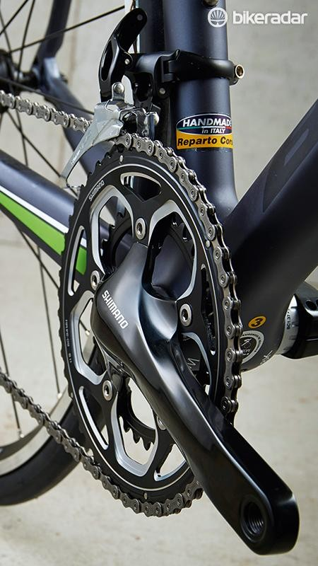 Ultegra dominates, but the crankset is a non-series affair