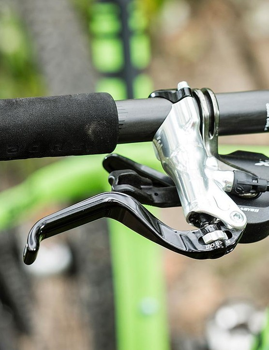 Hair-trigger Formula brakes fit in well with the Bianchi's nervous character