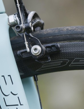 The new 3Diamant brake surface on Campag's Bora hoops is a vast improvement on previous offerings