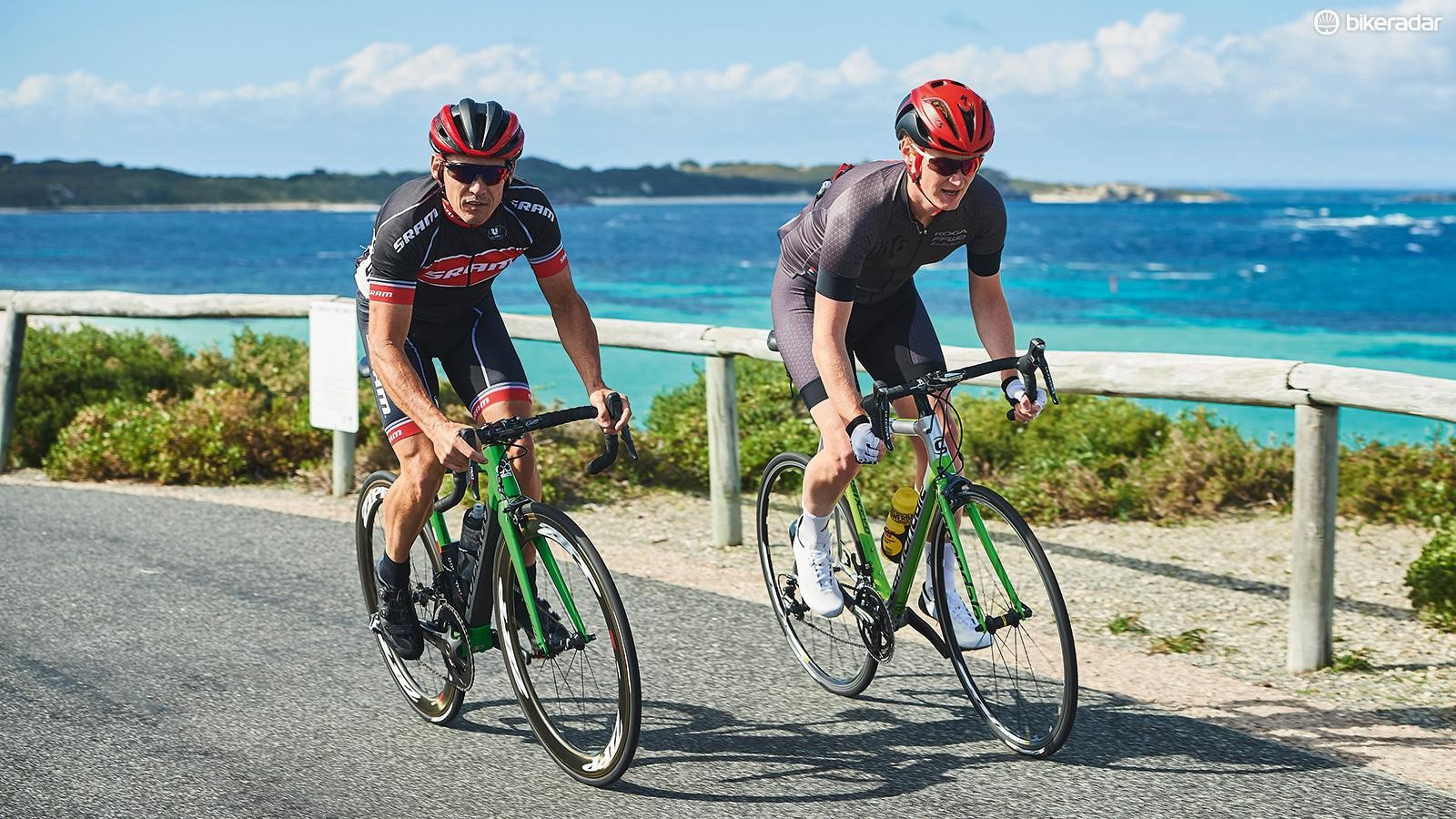 Former pro Robbie McEwen joined John for a spin