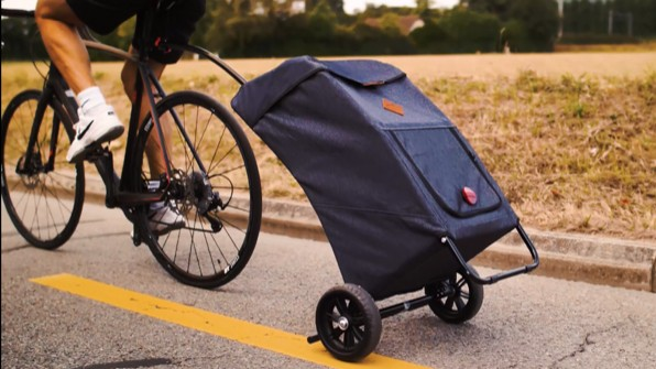 The Bikcarry ONE is a shopping-trolley bike trailer