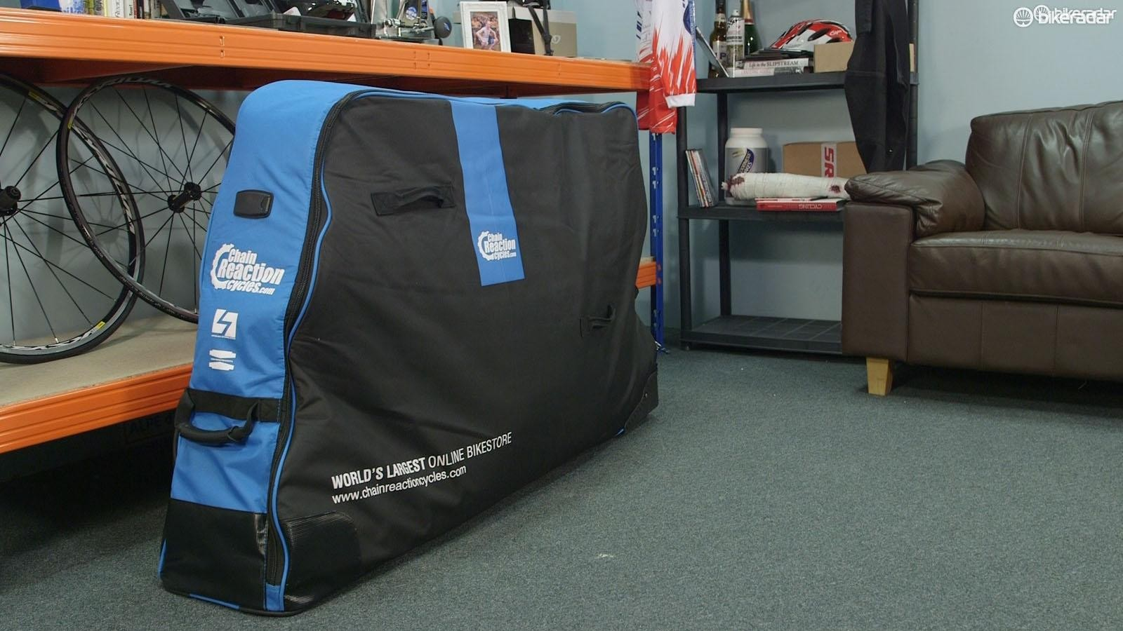 A semi-soft bike bag such as this offers protection and is easy to transport