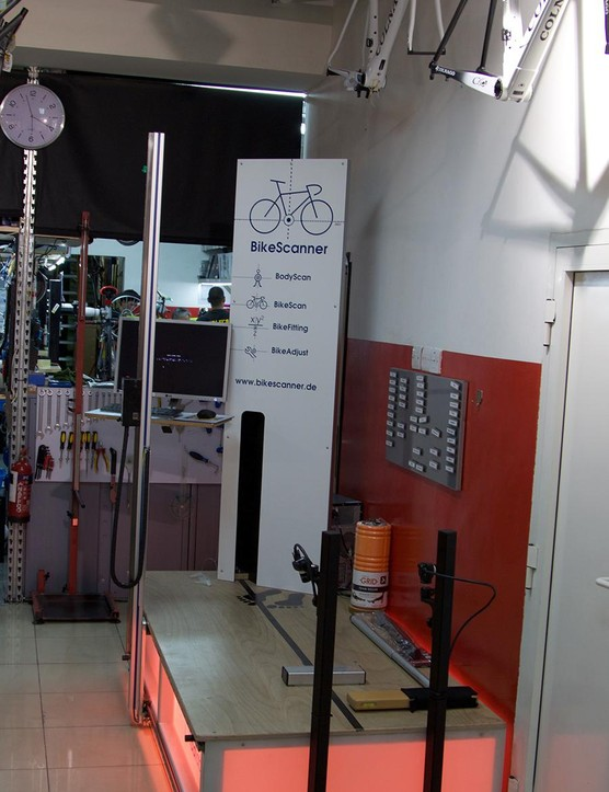 Wolfi's uses the Radlabor 'Cycling Laboratory' laser bike fit system