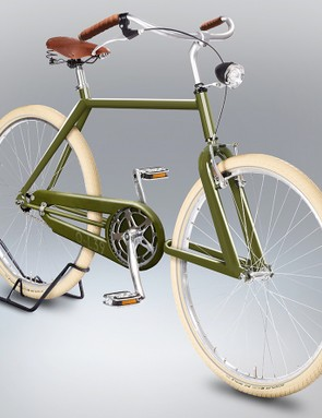 We love the clean lines of this urban runabout, in olive green