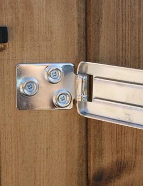 Don't rely on the lock that comes with your shed. Adding a couple of steel hasps with decent padlocks will make it harder for thieves to break in