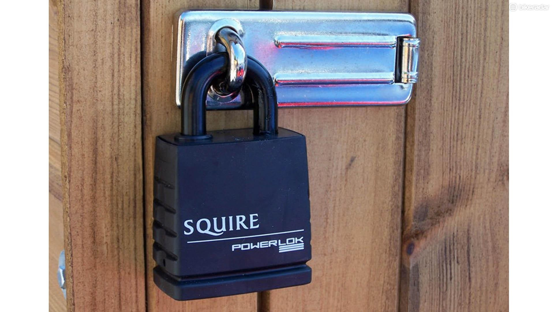 Don't go overboard with external security. The more locks you have fitted, the more obvious it is that there's something inside the shed that's worth protecting