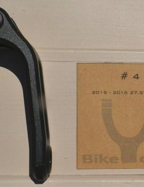 Forget proprietary shock mounting, BikeYoke uses a standard 12.7mm (1/2