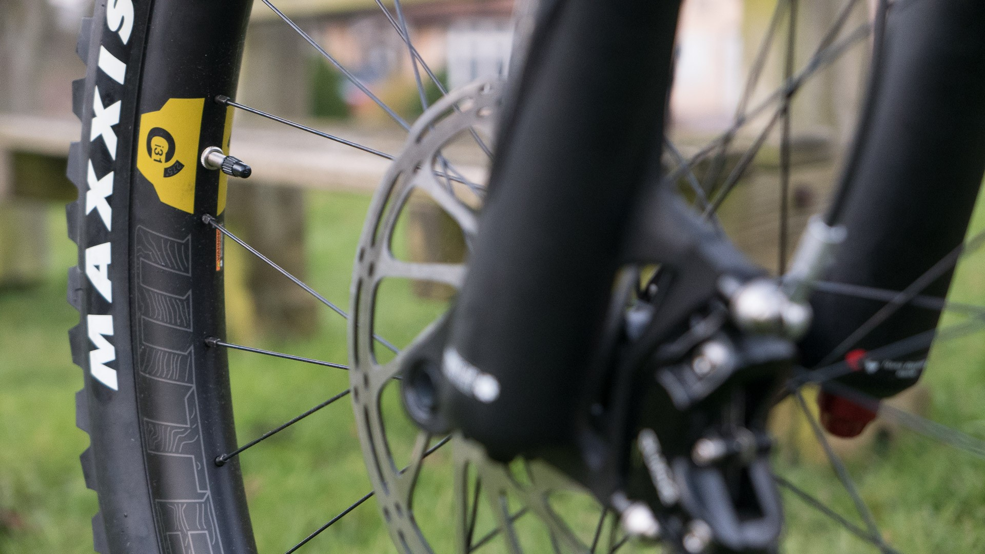 Super wide WTB carbon hoops help give an aggressive profile to the tyres