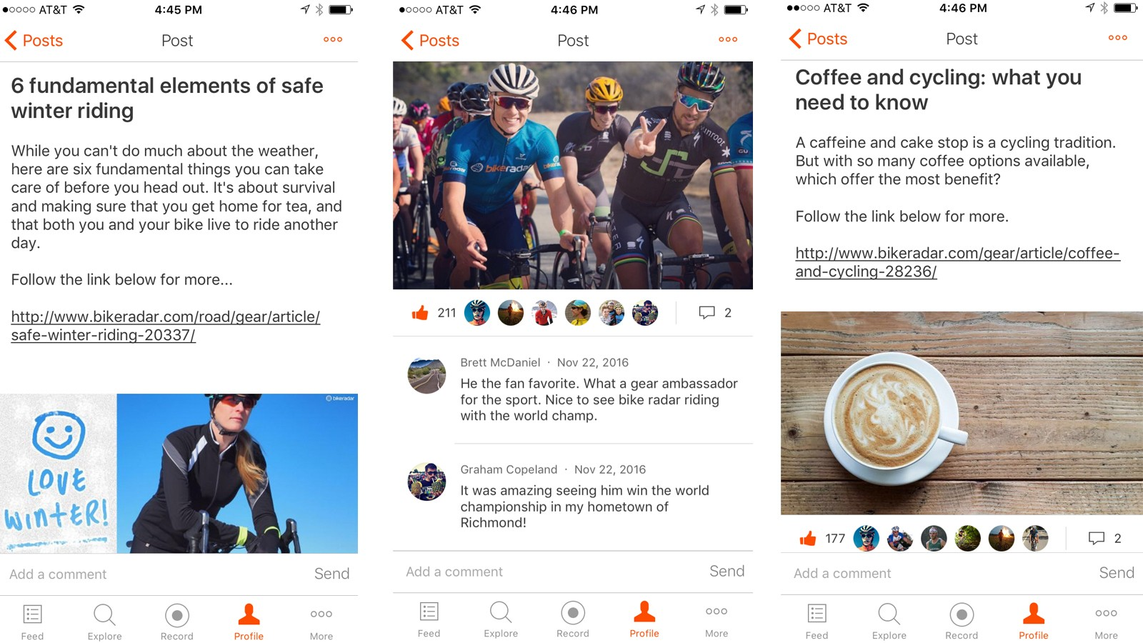 Join our club on Strava —it's free —for good stories and photos