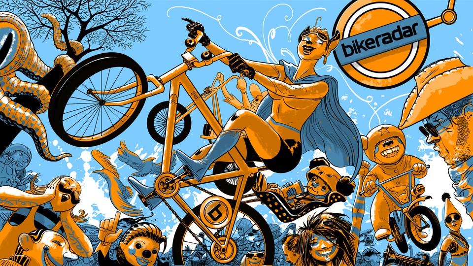Banish Boring Desktops With This Fun Bike Themed Wallpaper