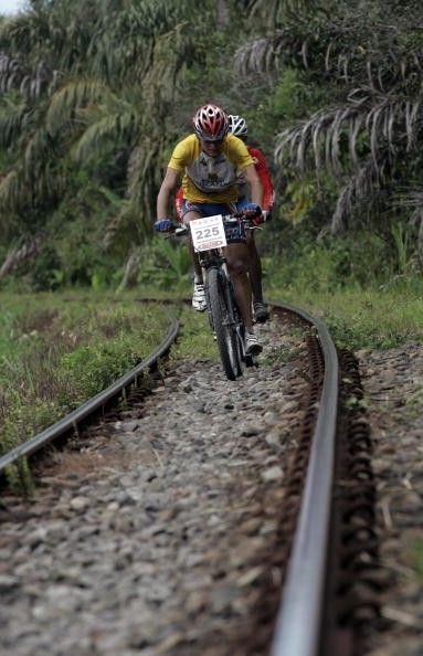 Some riders taking up too much room on the railways.