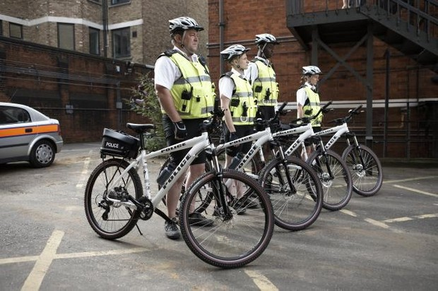 Think Keystone Cops but in Britain and with bikes