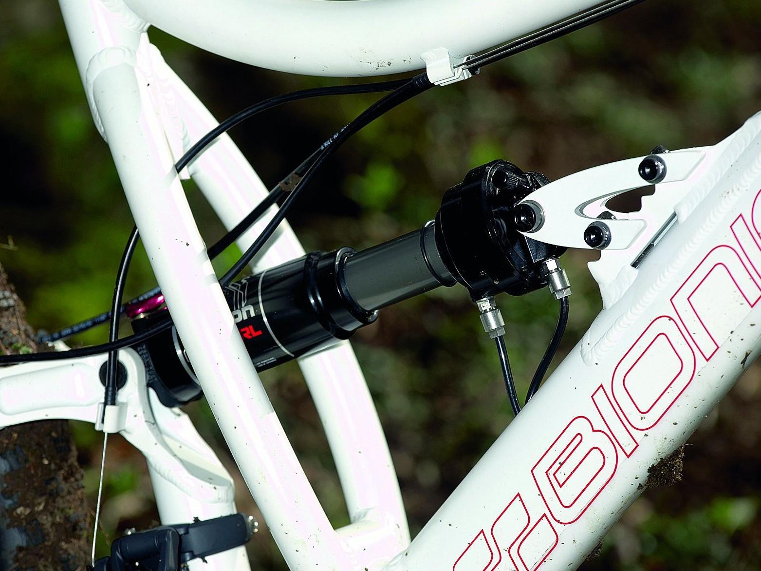 Adjustable X-Fusion rear shock: nice!