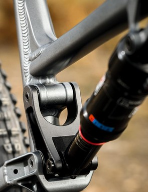 The metric-sized RockShox Deluxe shock is impressively smooth