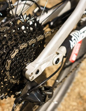 SRAM's 10-50t GX Eagle drivetrain is a great match for the bike