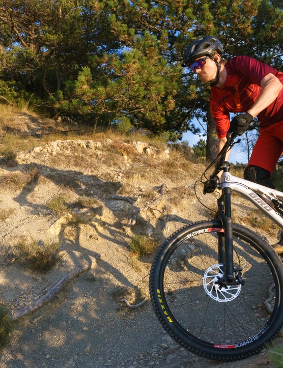 Longer travel 29ers really suit the rugged, rocky terrain around Peille, France