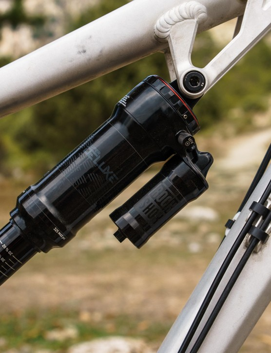 The RockShox Super Deluxe shock provides ample control for the back end