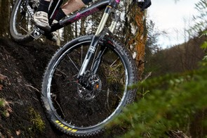 The slack front end comes into its own when it's time to hit the steeps