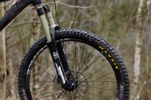 X-Fusion's Sweep RC HLR fork is a real highlight at this price, offering great support and tracking when riding hard